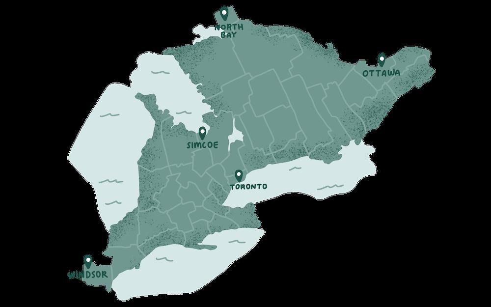 Eirene proudly serves all of Ontario
